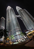 Twin towers in Malaysia. One of the highest buildings in the world Royalty Free Stock Photos