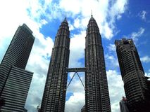 Twin Towers, Malaysia. How the Twin Towers looks like in the afternoon Royalty Free Stock Photos