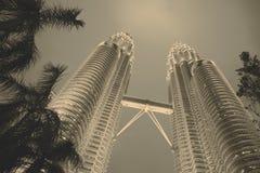 Twin towers in Malaysia - Kuala Lumpur Stock Photography
