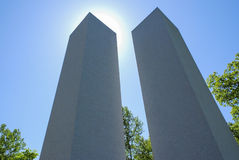 Twin Towers 911 Memorial Royalty Free Stock Photo