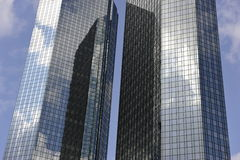 Twin Towers' Mirrored Facade Royalty Free Stock Photography