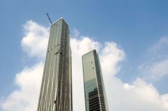 Twin Towers of Nanjing green Olympic Center Stock Images