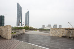 Twin Towers Nanjing Youth Olympic Center Royalty Free Stock Image