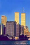 Twin towers in New York Royalty Free Stock Image