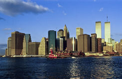 Twin towers in New York City Royalty Free Stock Image