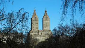 The twin towers. In New York city stock image