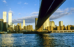 Twin towers in New York Royalty Free Stock Photography