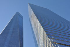 Twin towers in New York. World Trade Center buildings in New York, United States royalty free stock photo