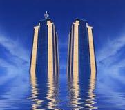 Twin Towers Rising Stock Photos