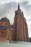 Twin towers of Roskilde Cathedral Stock Photos