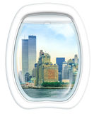 Twin Towers Scenic flight Royalty Free Stock Photos