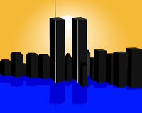 Twin towers Royalty Free Stock Image