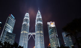 The Twin towers, tallest buildings in Malaysia Royalty Free Stock Images