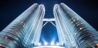 Twin towers, tallest buildings in malaysia Royalty Free Stock Images