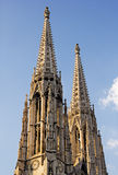 Twin towers on the Votive Church, Vienna, Austria Stock Photography
