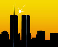 Twin Towers Stock Photos