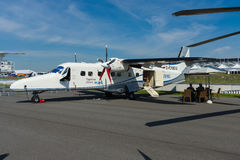 A twin-turboprop STOL utility aircraft, Dornier 228 New Generation. Stock Image