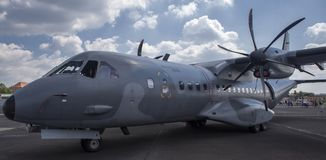 Twin-turboprop tactical military transport aircraft EADS CASA C-295M. Royalty Free Stock Images