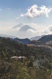 Twin Volcanoes in Guatemala Stock Photo