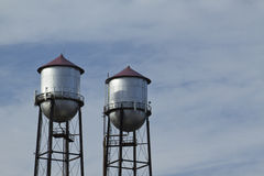 Twin Water Towers Stock Photos