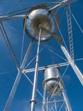 Twin water towers Stock Photography
