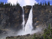 Twin Waterfalls. In Yaho National Park in Canada Stock Image