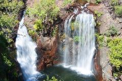 Twin waterfalls Royalty Free Stock Photo