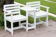 Twin white chair Royalty Free Stock Photos