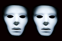 Twin White Faces Stock Photos