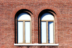 Twin windows. Close up stock images