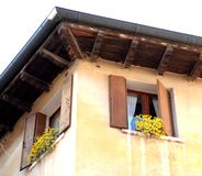 Twin windows in Asolo Stock Images