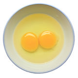 Twin yolks Royalty Free Stock Photo