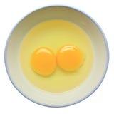 Twin yolks Royalty Free Stock Photo