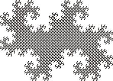 Twindragon Fractel Fliese, 14 Iteration stock abbildung