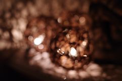 Twine ball decorative Christmas lights blurred Stock Photography