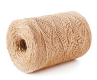 Twine cord. Roll of twine cord on white background royalty free stock photography