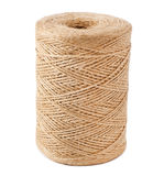 Twine. Roll of twine cord on white background royalty free stock image