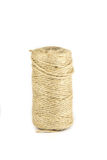 Twine rope isolated on a white background Royalty Free Stock Photos