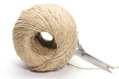 Twine and scissors. Stock photo : twine and scissors Royalty Free Stock Photography