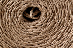 Twine. Spiral in hank packing twine royalty free stock photography