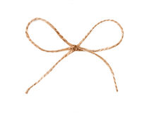 Twine string tied in a bow isolated Stock Images