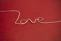 Twine yarn Love Royalty Free Stock Photo