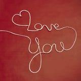 Twine yarn Love You Royalty Free Stock Image