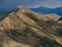 Twining Peak in the Mount Massive Wilderness, Sawatch Range, Colorado. Watching an approaching storm in the Sawatch Range, from the summit of Peak 13500, Mount Royalty Free Stock Image