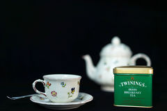 Twinings爱尔兰早餐茶 库存图片