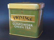 Twinings Green Tea. LONDON, UK - JANUARY 6, 2015: Twinings Gunpowder Green tea Stock Photo