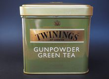 Twinings Green Tea. LONDON, UK - JANUARY 6, 2015: Twinings Gunpowder Green tea Stock Photography