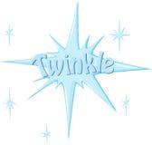 Twinkle. Illustration of symbol twinkle on white Stock Photo