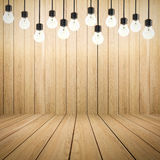 Twinkle lights on empty wooden background. 3d rendering twinkle lights on empty wooden background Stock Photo
