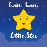 Twinkle twinkle little star children sweet song at night stock illustration